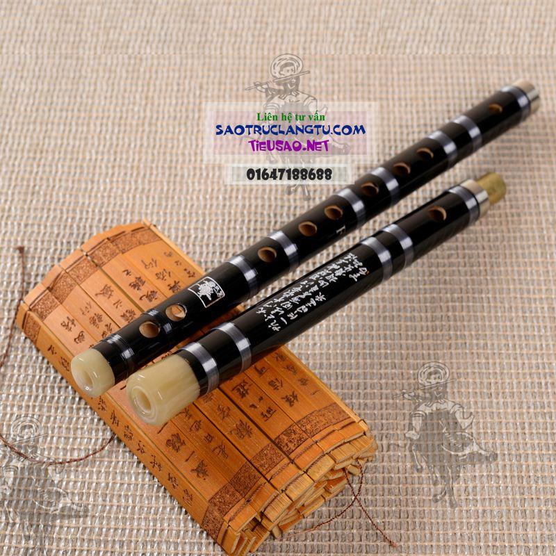 Sáo Tàu Hắc Mã - sáo Dizi đen - khớp inox Dz12